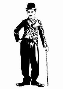 Malvorlage, Charlie, Chaplin
