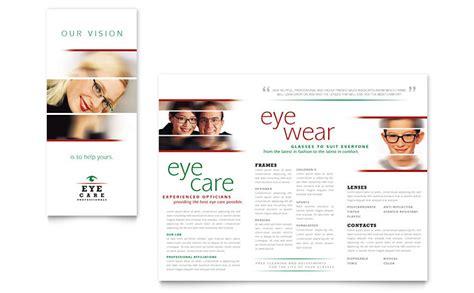 microsoft publisher brochure templates optometrist optician brochure template word publisher