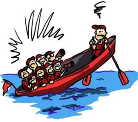 Management Boat Cartoon by The Corporate Boat Race