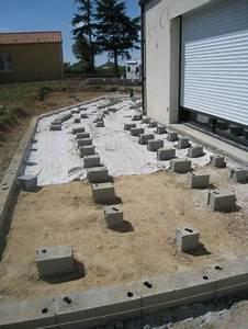 Pose De Dalle 40x40 Sur Sable : terrasse bois terrasse sur plots b ton ~ Melissatoandfro.com Idées de Décoration