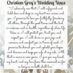 biblical wedding vows christian grey 39 s 3 year wedding anniversary