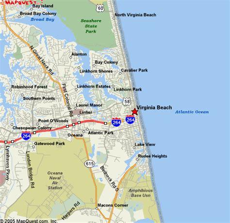virginia beach map holidaymapqcom