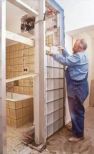 Duschwand Aus Glasbausteinen : glasbausteine mauern bauen renovieren ~ Sanjose-hotels-ca.com Haus und Dekorationen