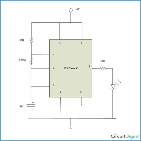 Flashing Led Circuit Diagram Using Timer
