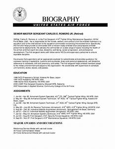 famous air force bio template images resume ideas With air force bio template