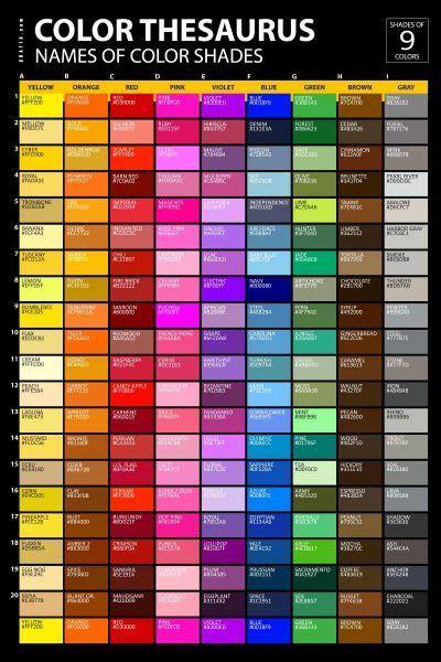 color shades names poster color psychology color