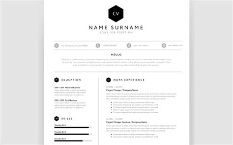 Smart Cv Format by Cv Template Modern One Page Format Careerone Career Advice