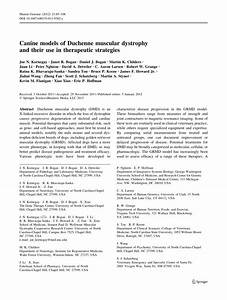 (PDF) Canine Models of Duchenne Muscular Dystrophy and ...