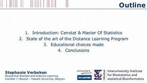 "Distance Learning Program ""Master of Statistics"" - #EADTU2014"