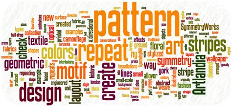 textile clothing info pattern design terms defined
