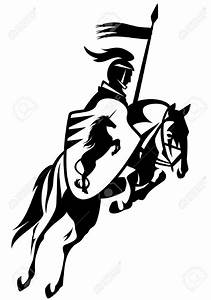 Knight clipart horse drawing - Pencil and in color knight ...
