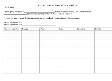 child care medication authorization form 1000 images about daycare forms on pinterest