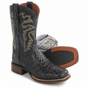 Dan Post Everglades Midnight Caiman Cowboy Boots (For Men ...