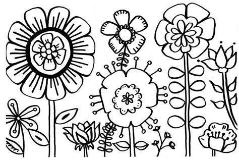 free flower garden coloring pages