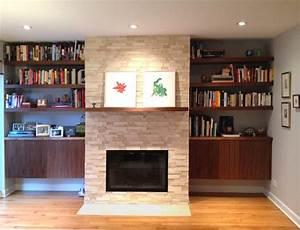 Built-in Bookshelves and Cabinets - Modern - Living Room