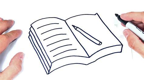 Cómo dibujar un Libro Abierto Paso a Paso Dibujo de