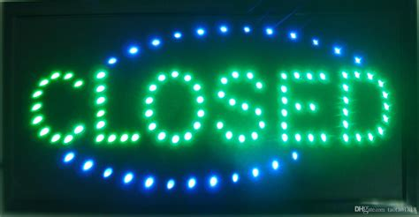 See Bright Light When Closed by 2019 Closed Shop Led 19x10 Sign Bright Store Neon Bar