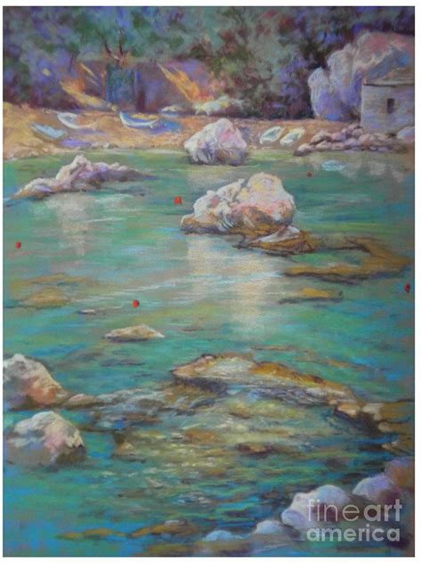 Rock Pool At The Demouchari Pelion Greece By Heather