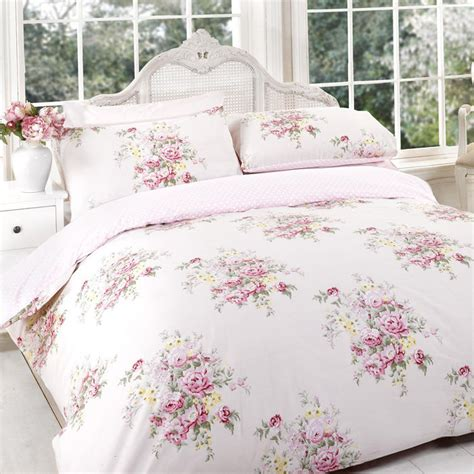 shabby chic duvet sets duvet cover set vintage shabby chic floral pink reversible all sizes ebay