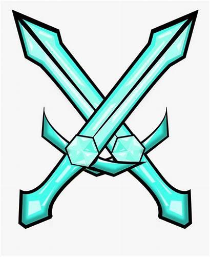 Sword Minecraft Diamond Enchanted Swords Double Clipart