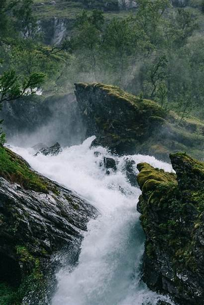 Gifs Water Flow Nature Norway Waterfall Natural