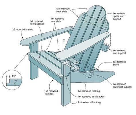 large adirondack chair plans woodworking