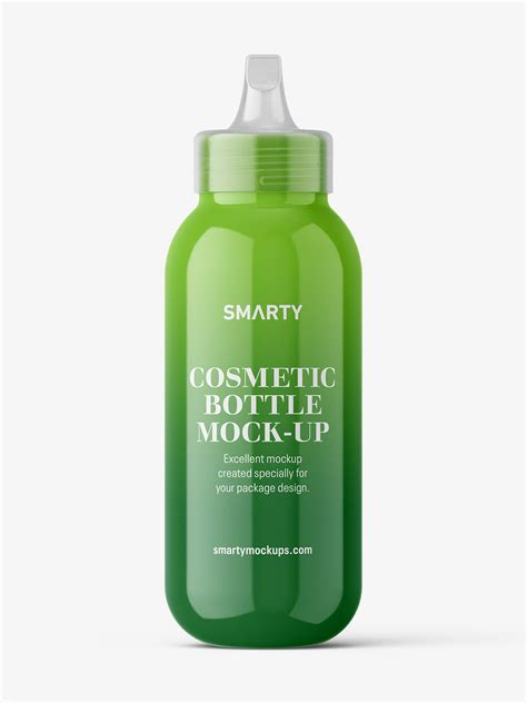 Find & download free graphic resources for bottle mockup. Glossy bottle with spout cap mockup - Smarty Mockups