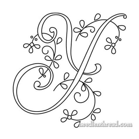 monograms  hand embroidery delicate spray     needlenthreadcom