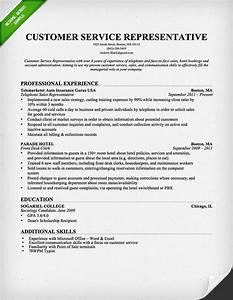 Customer Service Representative Resume Entry Level