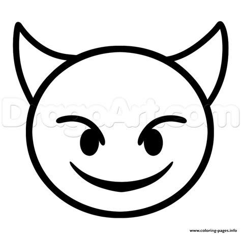 draw devil emoji step coloring pages printable