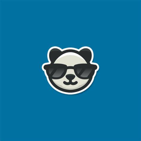 sale cool panda sunglasses logo design logo cowboy