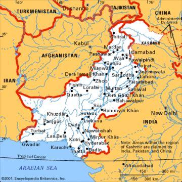 carta politica pakistan asia meridionale asia