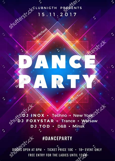 dance party invitation designs examples