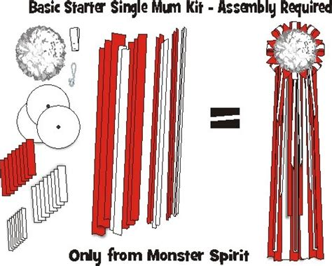 supplies for homecoming mums mum kit basic starter mum kit 6 quot single mum 36 quot streamers easy to assemble monsterspirit