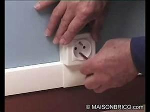 Goulotte Electrique Avec Prise : installation lectrique avec baguettes et plinthes en pvc youtube ~ Mglfilm.com Idées de Décoration