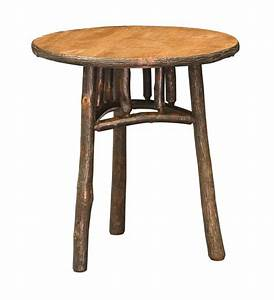 """Amish 22"""" Round Rustic End Table"""