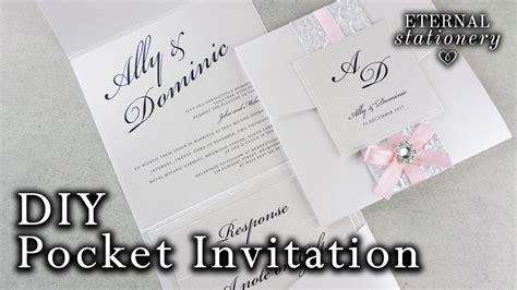how to make a belly band pocket invitation diy wedding