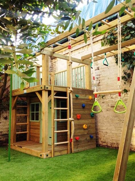 Backyard For Children by 16 Creative Wooden Playhouses Designs For Your Yard
