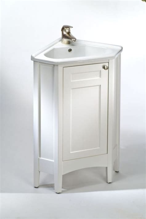 furniture bathroom with white wooden corner sink vanity steel faucet as well as vanity in