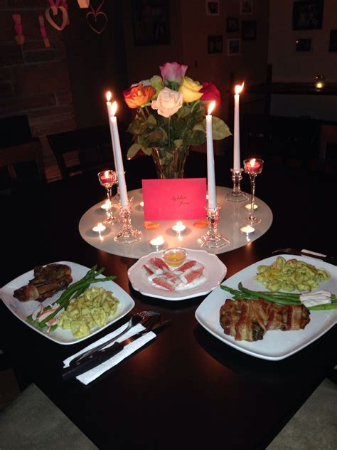 Fun at home date ideas. Candlelight dinner | Candle light dinner, Romantic dinner ...