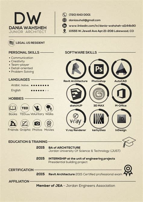 best 25 resume architecture ideas on