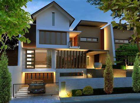 desain rumah minimalis mewah  modern  lantai contoh