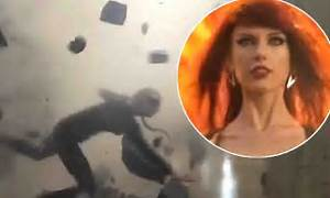Taylor Swift has near miss when a stunt on Bad Blood video ...