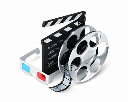 Cinema Vector Concept Realistic Freepik Icon Objects