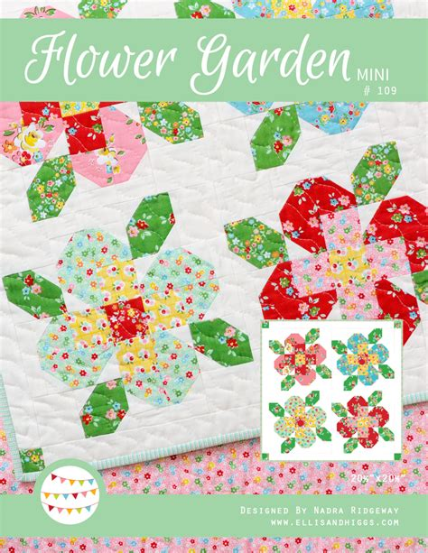pdf quilt pattern flower garden mini zeppy io