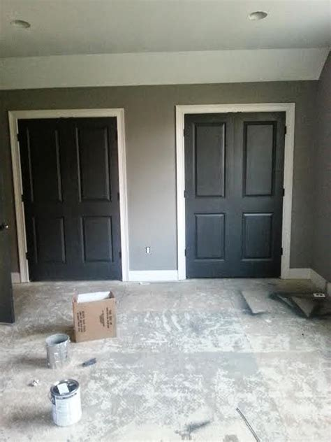 so happy to be here sherwin williams iron ore paint for dark doors for my hubby in 2019