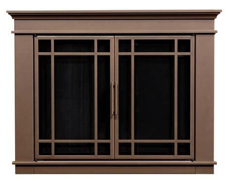 Hamilton Bronze Fireplace Doors Large, Replacement