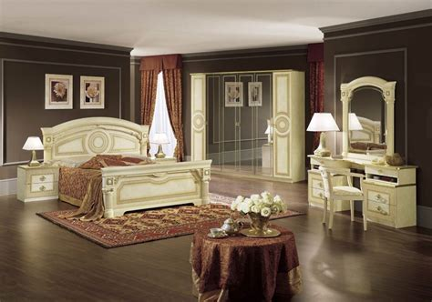 Buy Camel Aida Italian Bedroom Set With 6 Door Wardrobe