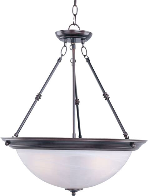 maxim rubbed bronze 3 light inverted bowl pendant