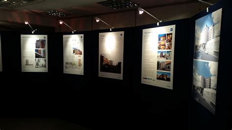 exhibition panel hire blue square displays